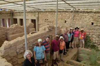 In the Palace of Knossos- Tripartite Shrine